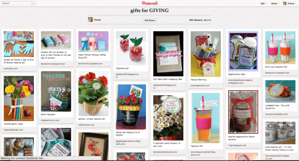 Gift Ideas Pinterest Board