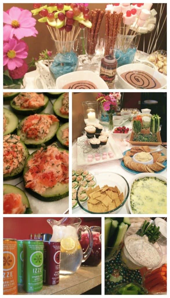 Spa Themed Party Food