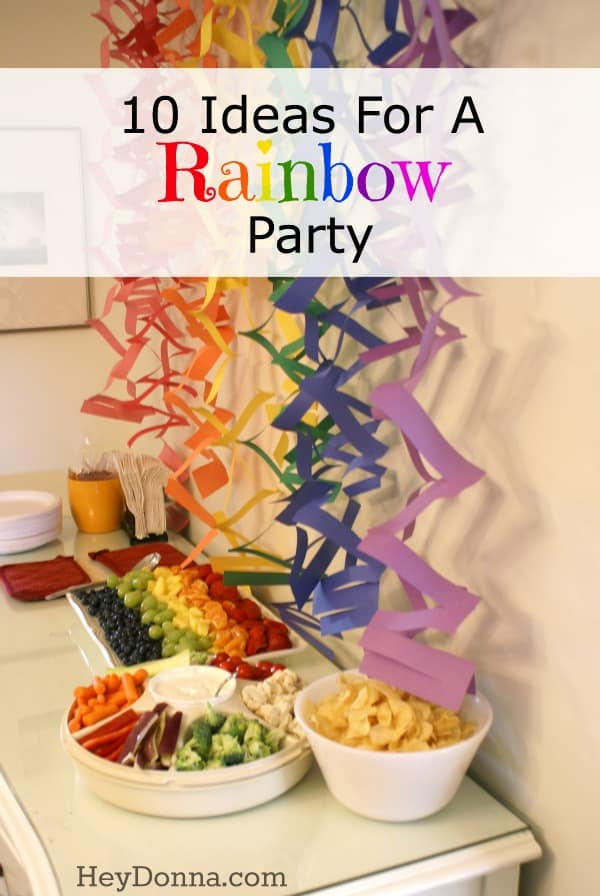 10 Ideas For A Rainbow theme Party