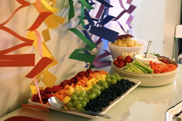 Rainbow Fruit and Veggie Tray