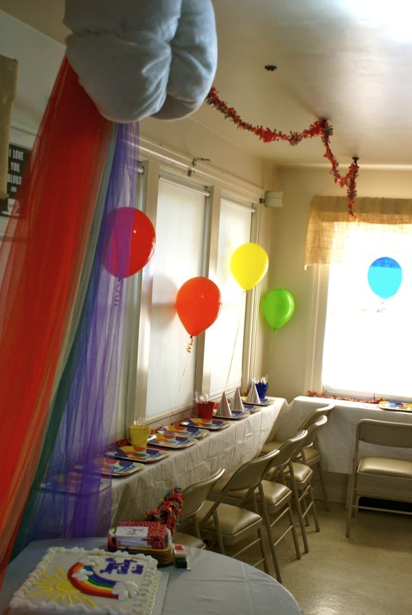Rainbow Party Room Decor