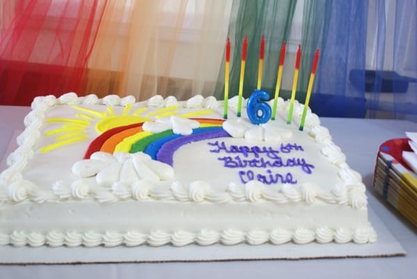 Costco Birthday Cake Rainbow Design