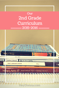 Our 2015-2016 Homeschool Curriculum for 2nd and 4th Grade