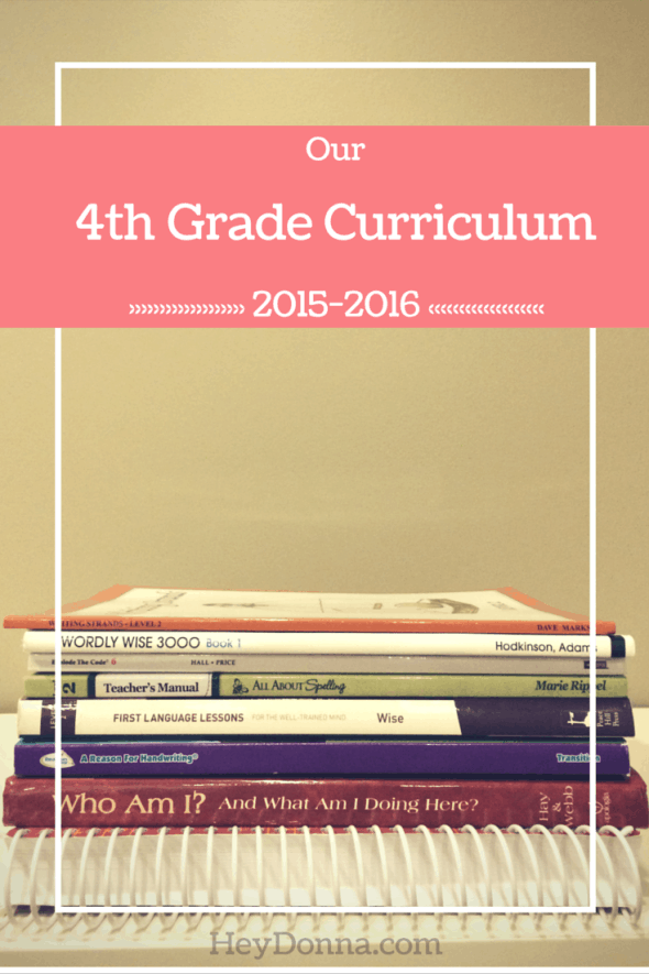 Our 4th Grade Curriculum 2015-2016