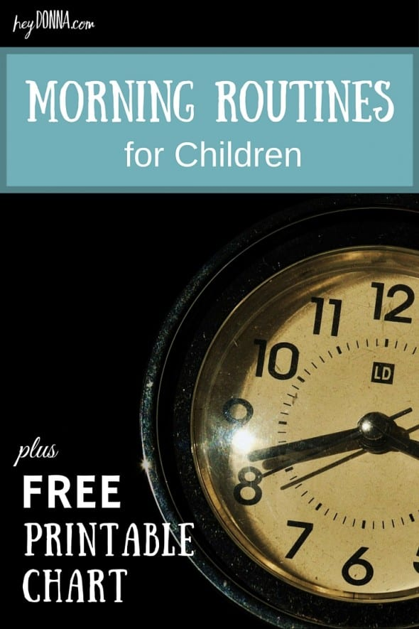 Morning Routines for children