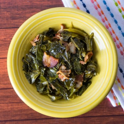 Collard Greens with Bacon Recipe Instant Pot for your Thanksgiving