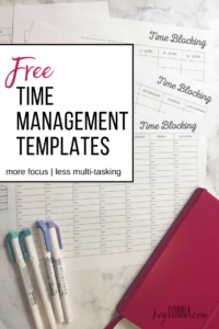 Time Blocking Calendar – Free Updated Worksheets