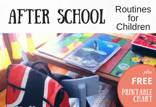 After School Routines for kids
